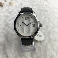 Relógio de design mecânico multifunções de couro de estilo genuíno