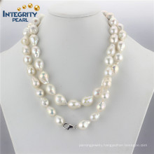 "Large Baroque Pearl Necklace AA 11-13mm Edison Baroque 36"" Necklace Simple Pearl Necklace Designs"