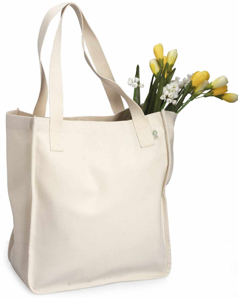 Simply shopping canvas tote bag