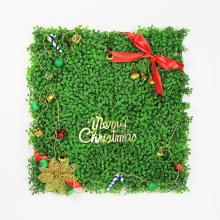 Счастливого Рождества 50*50см прекрасный искусственные новогодние растения для стены
