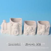 High quality DIY Ceramic Christmas train decoration