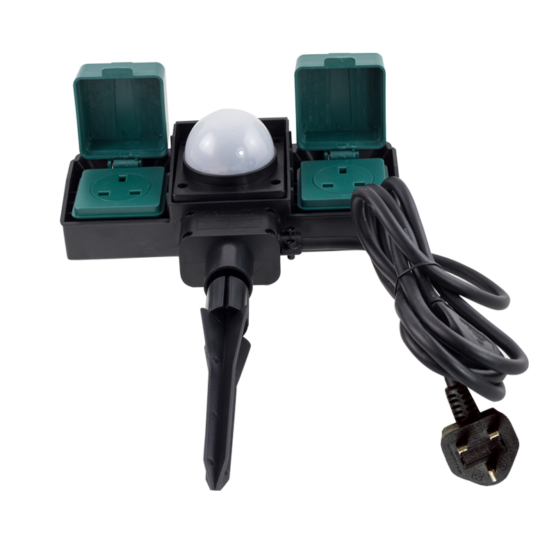 2 Way Outdoor Garden Plug Sockets