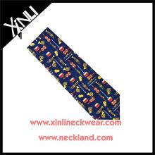 Azo Free Men New Fashion Wholesale Silk Printed Tie Music