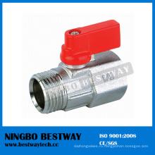 Никелированный 3/8 1/2 мини латунный шаровой Клапан ФМ (БВ-В105)