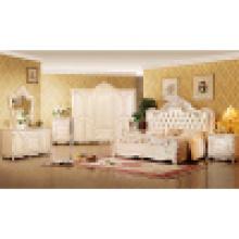 Conjunto de muebles de dormitorio con cama King y gabinete (W809)