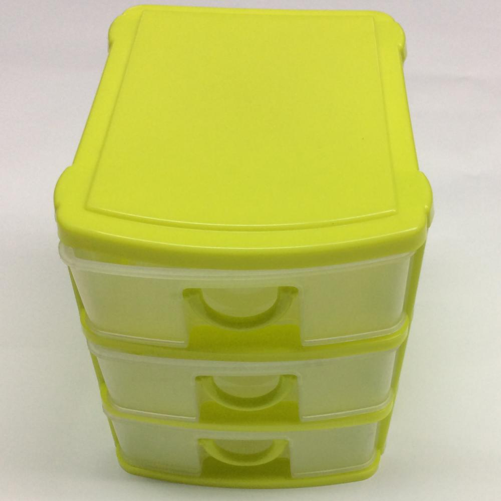 Plastic Classified Three Layer Drawer Storage Box
