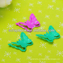 charms metálicos de brillo mariposa