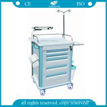 AG-Et005b1 Medical Mobile ABS Material Krankenhaus Trolley mit fünf Schubladen