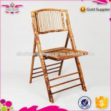 Fabricação de cadeira dobrável para idosos de bambu ao ar livre