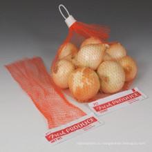 Прессованная упаковка рукавом фрукты мешок сетки сделано в Китае