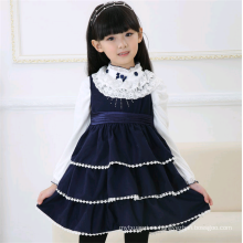 Vestidos de invierno casuales del niño vendedor caliente caliente vestido de lana de la muchacha
