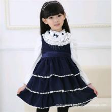 Vente chaude enfant décontracté robes d'hiver fille robe en laine