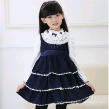 Hot selling child casual winter frocks girl woolen dress