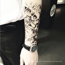 Татуировки новое Прибытие мода рычаг задней конструкции ручной тату на шее для мужчин