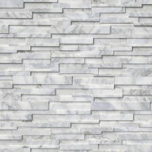 Серый Quarzite отточенные каменные стены 3D панель
