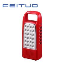 Lámpara portátil LED, linterna recargable, de la mano, luz Radio FM 620-R