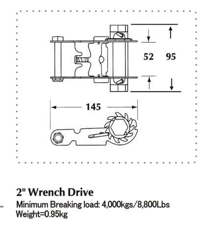 2 Inch Wrench Drive Ratechet Buckle