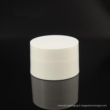 Pot cosmétique de couleur blanc PP (NJ14)
