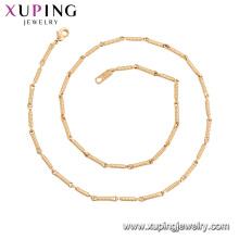 44954 Xuping atacado jóias nova chegada 18k banhado a ouro colares cadeia de moda