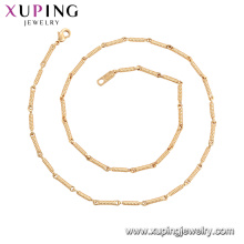 44954 Xuping ювелирные изделия новое прибытие 18k позолоченный моды цепи ожерелья