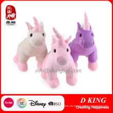 Tres colores felpa suave unicornio peluches juguetes