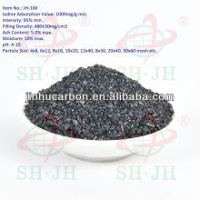 Carvão activado com tamanho de malha 30x60