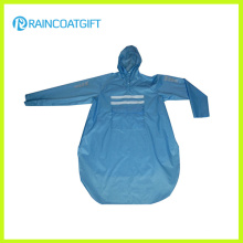Camisa impermeável da chuva do PVC do poliéster (RPY-043)