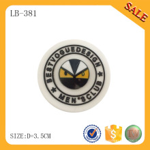 LB381 Logotipo de pvc personalizado de prendas de vestir en relieve etiqueta reflectante / patch / tag