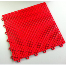 PP Interlocking Sports Flooring Tiles Asterisk Red Color