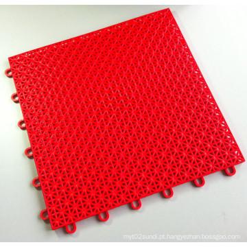 Cor vermelha de bloqueio das cores do asterisco das telhas de revestimento dos esportes dos PP