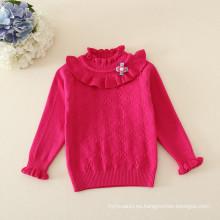 suéter de las muchachas del bebé / suéter de la camisa que echa hacia abajo para las muchachas de los niños