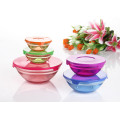 5PCS Color Sprayed Glass Bowl Set GB1401-5/P