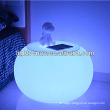Heated new android smart long distance control factory direct sale rechargeable color changing plastic bar stool