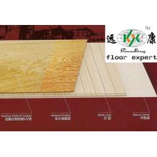 Plancher de plancher de plancher solide pré-fini de cendre de plancher de cendre