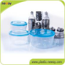 Billiger kundenspezifischer transparenter runder Plastikbehälter des Plastiks