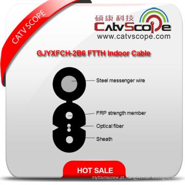 China fornecedor de alta qualidade Gjyxfch-2b6 FTTH cabo de fibra óptica interior