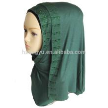 Mantón de la manera maxi chal bufanda mujeres elegante musulmán piedra estiramiento jersey hijab