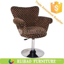 Design Leisure Flock Fabric Tub Chair Cadeira Swan de luxo