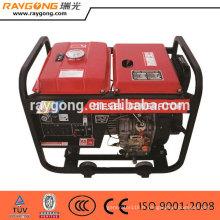 Groupe électrogène diesel portatif 5kw type ouvert de haute qualité