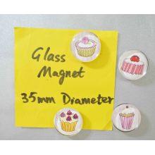 Souvenir Cake Artwork Printing Glass Magnet