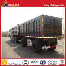 Heavy Duty Van Body Doppelfracht LKW Anhänger Fpr Verkauf