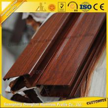 Profil en aluminium de grain de bois de haute qualité