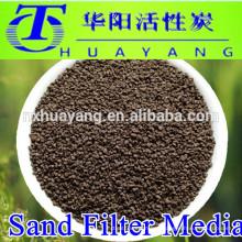 arena de manganeso de filtro de arena de tratamiento de agua para la eliminación de hierro