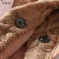 Nuevo cuero genuino y abrigo de piel con tejido de punto