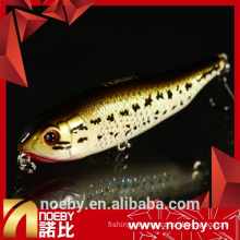 NOEBY 80mm 7.5g action plastics fish lures metal VMC hook