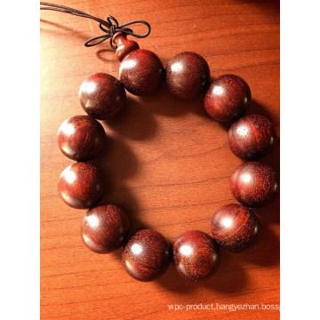 Fashionable Round Red Sandalwood Beads