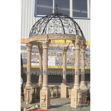 Sandstone Garden Gazebo for Antique Outdoor Garden Stone Marble (GR062)