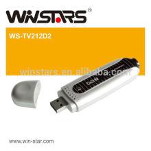 USB 2.0 WHDI cartão de sintonizador de TV digital, stick de TV portátil com fácil função plug-and-play USB2.0 interface