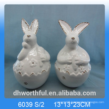 Cutely ceramic easter rabbit / bunny as easter decoration