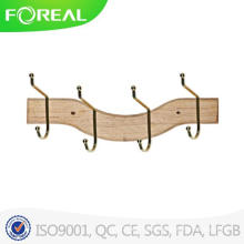 4 Hooks Fashionable Luxury Wood Hanger for Clothes